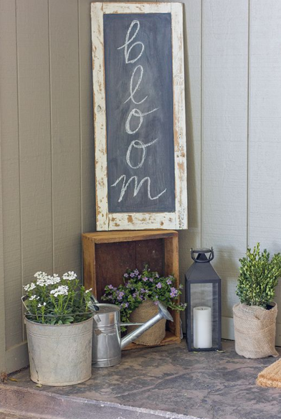 bloom chalkboard spring