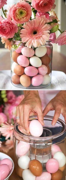 egg vase flowers