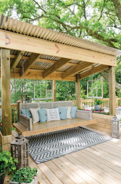 deck idea swing
