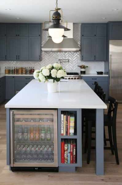 kitchen island mini bar