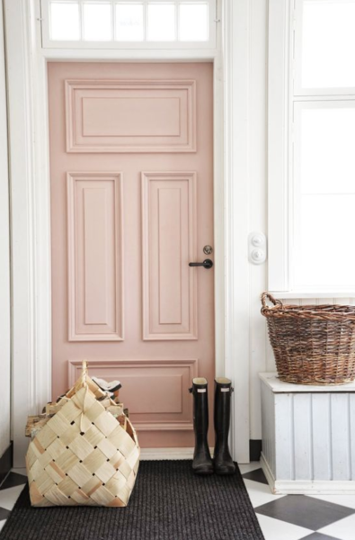 pink door foyer